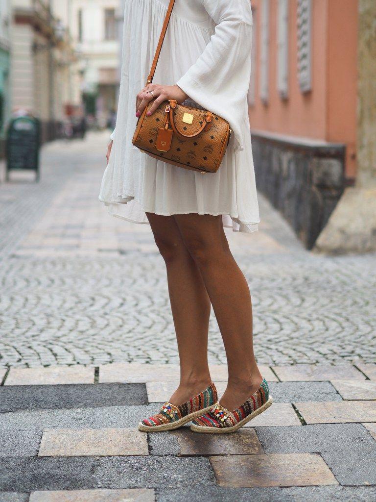 Outfit Volant Kleid und meine neue MCM Tasche La Katy