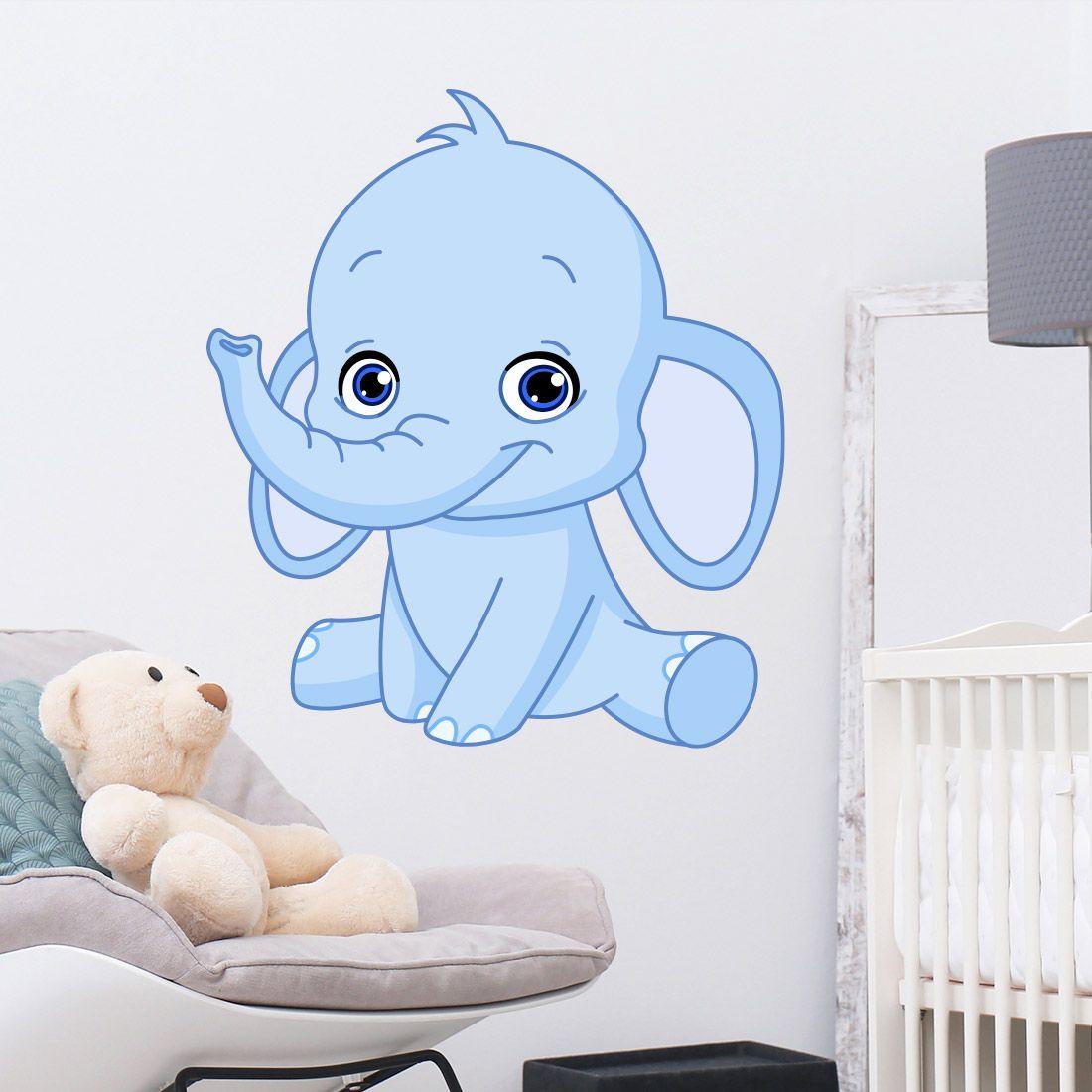 Betere Muursticker olifant babykamer jongen of meisje - Muurstickers HX-63