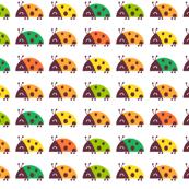 summer ladybugs - bubbledog - Spoonflower