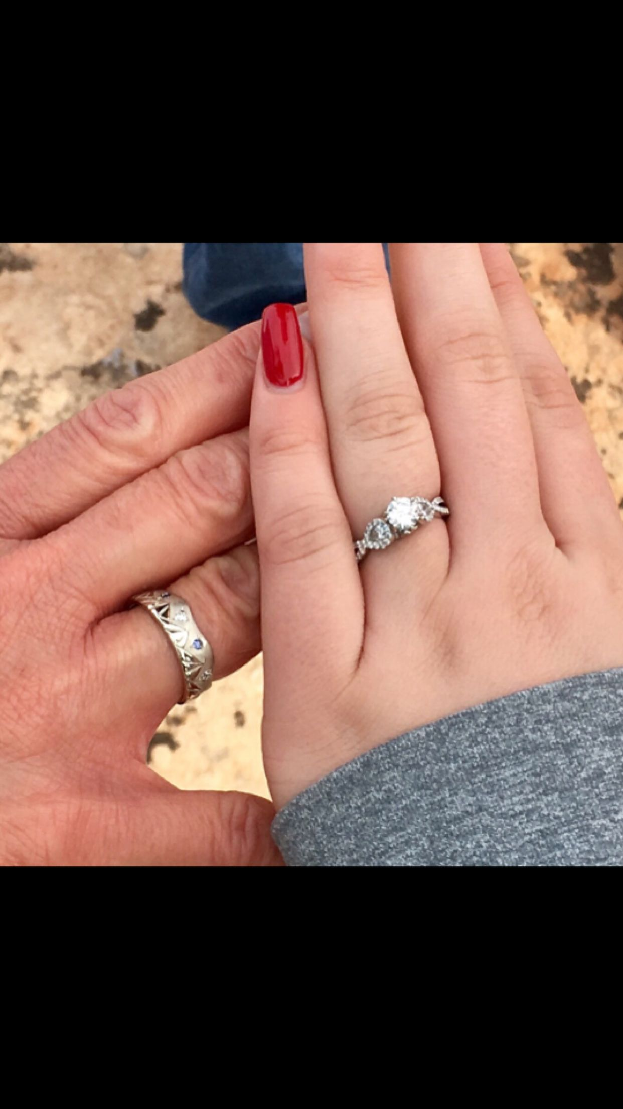 New Engagement Ring and a 25 Year Anniversary Band