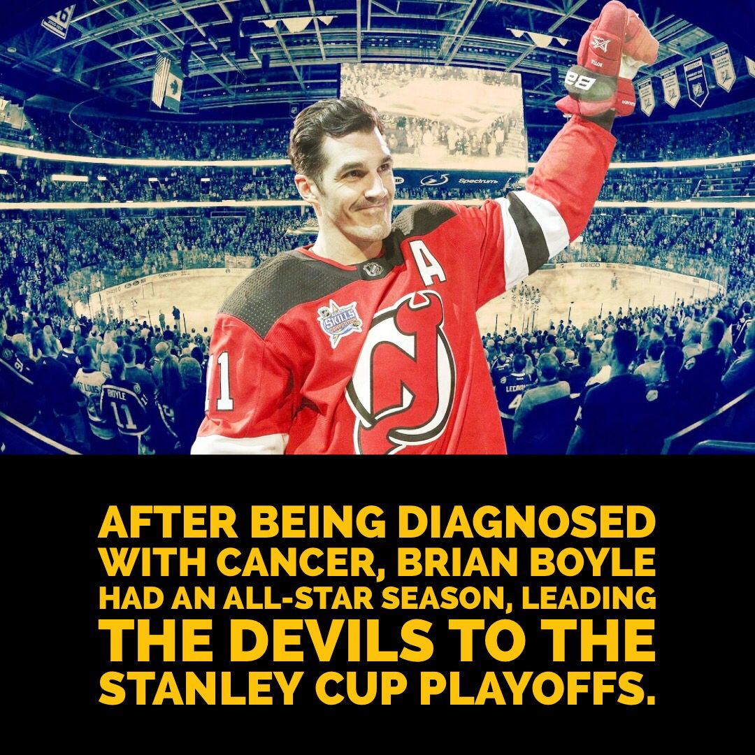 huge selection of a6208 2bc6d New Jersey Devils center Brian Boyle didn't let cancer stop ...