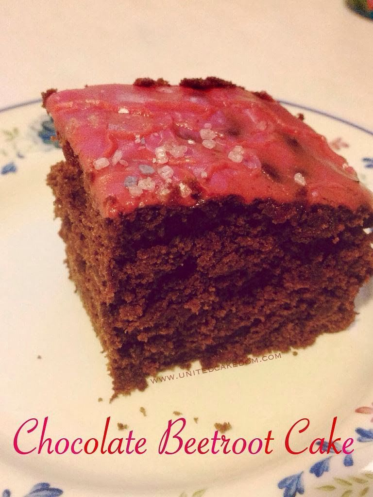 Chocolate beetroot cake for clandestine cake club