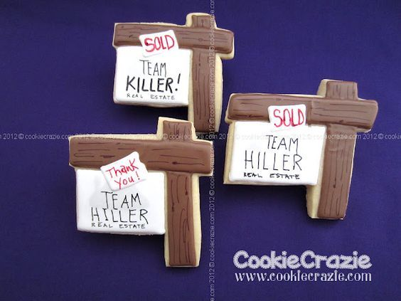 Realtor House For Sale Sign Cookies Www Cookiecrazie Com