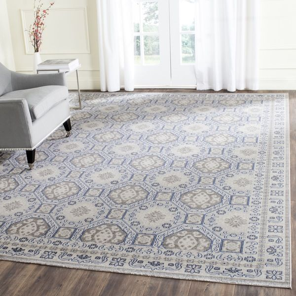 Safavieh Silver Blue Cotton Rug 10 X 14