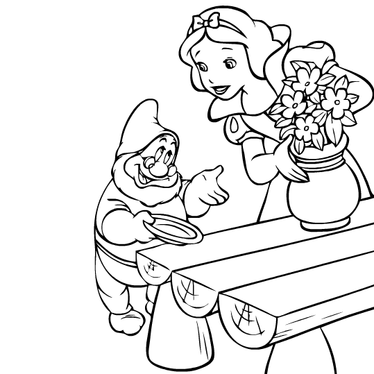 Snow White coloring page | Coloring pages | Pinterest