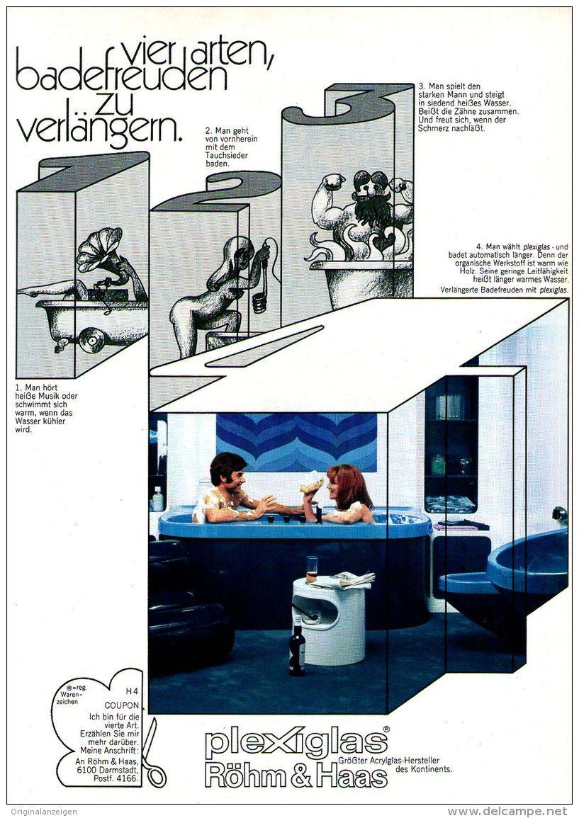 Original-Werbung/ Anzeige 1969 - PLEXIGLAS / RÖHM & HAAS - ca. 180 x 240 mm