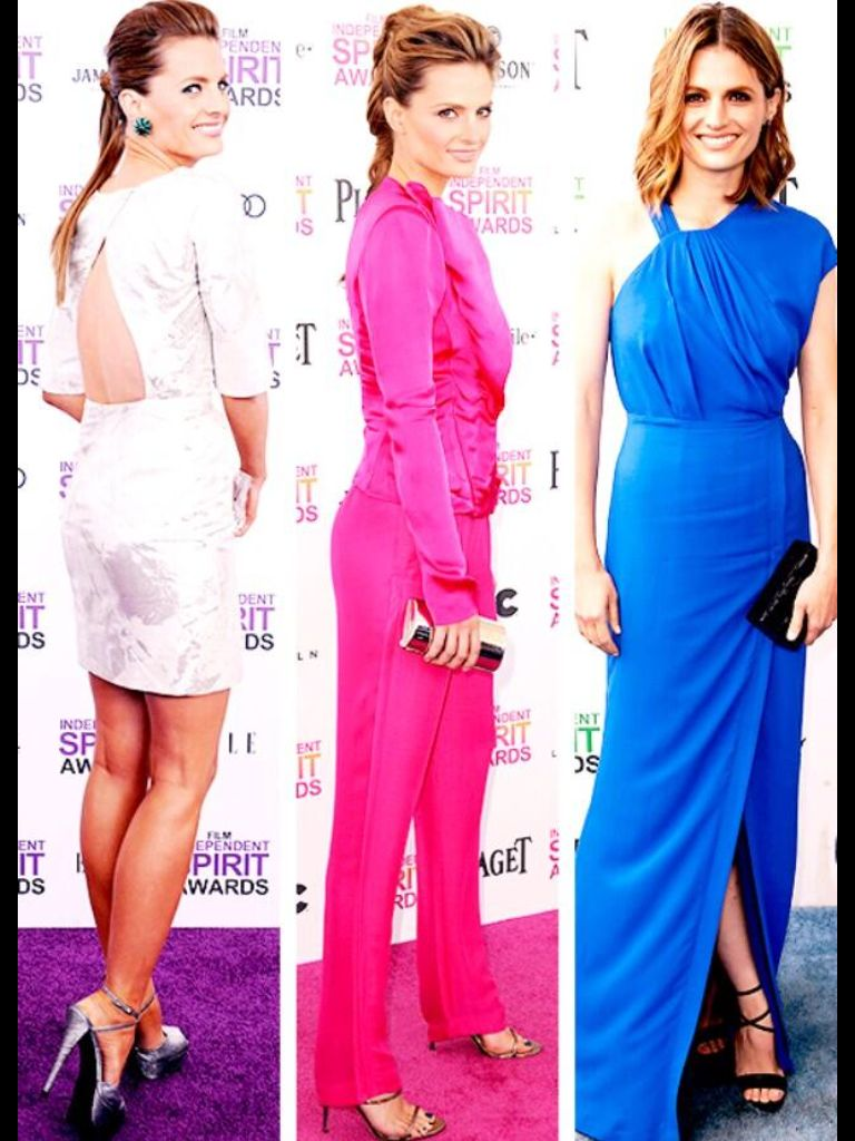 White, pink, and blue | Stana photo shoots | Pinterest