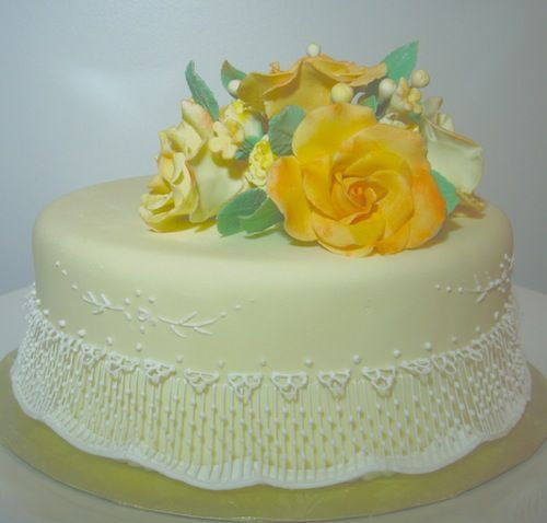 Birthday Cakes with Yellow Flowers Yellow Birthday Cake with