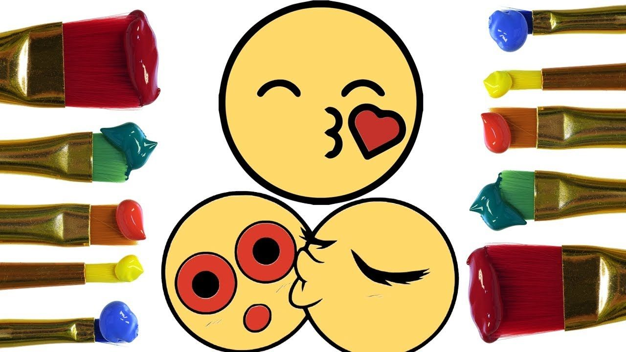 How To Draw Kissing Emoji Step Coloring pages | Drawing ...