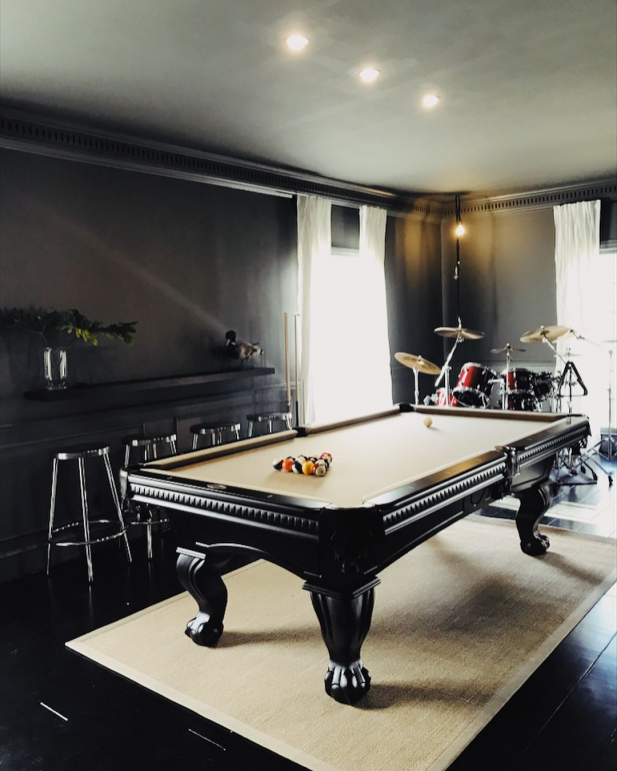 Photo of Pool Time ???? (painted an old pool table black) #recreationalroom #recreational…