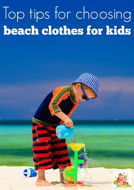 Top tips for choosing beach clothes for kids.  Make sure your children are protected, stand out from the crowd and have a super fun time at the beach with our tips for choosing beach wear that works hard for hard playing kids.