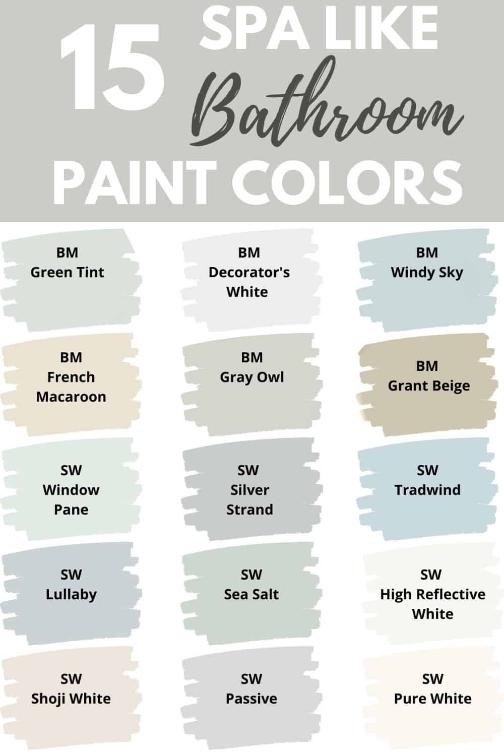 If You Want A Bathroom Paint Color That Is Relaxing And Calming Check Out These 15 Soothing Spa L In 2020 Small Bathroom Colors Small Bathroom Paint Painting Bathroom