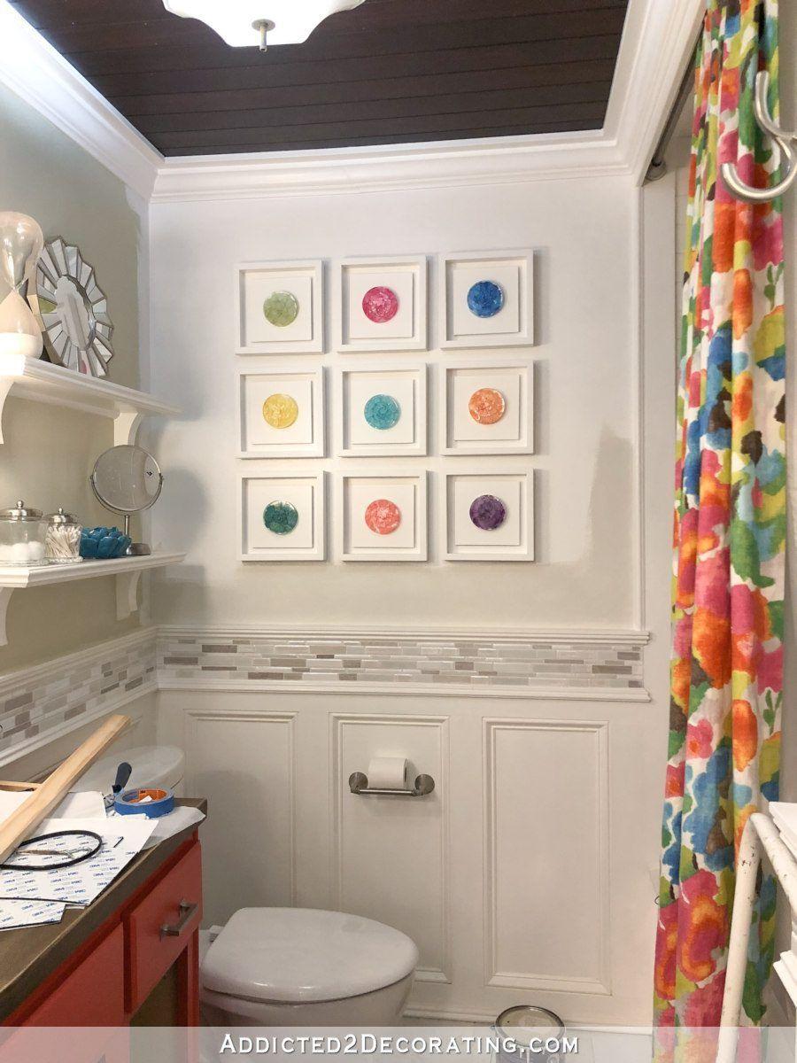Dip A Toe Into Bold Color Painted Ceilings In The Bathroom Bathroom Colors Top Bathroom Design Painting Bathroom