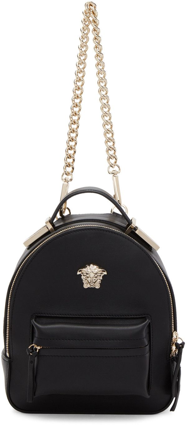f936bd3312c9 Versace - Black Mini Medusa Palazzo Backpack