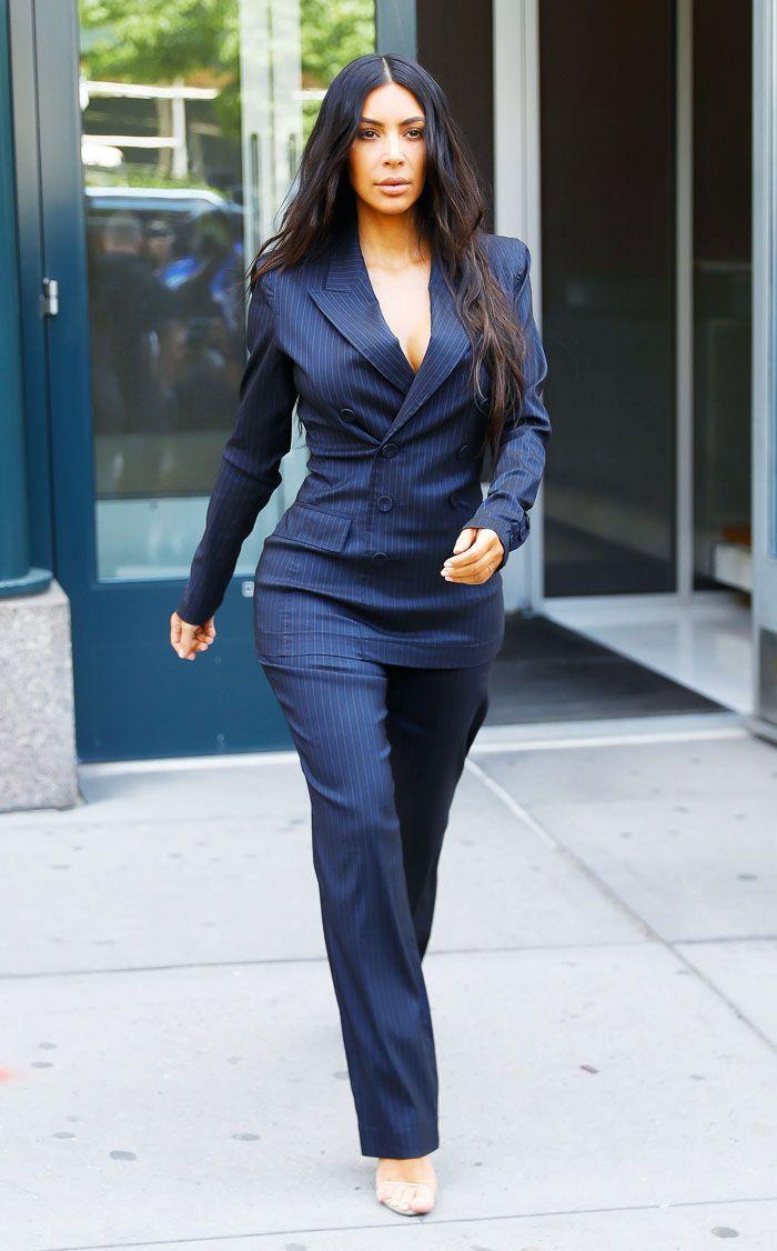 dd57da162cbe This Is How Kim Kardashian West Does Executive Workwear via  WhoWhatWearUK