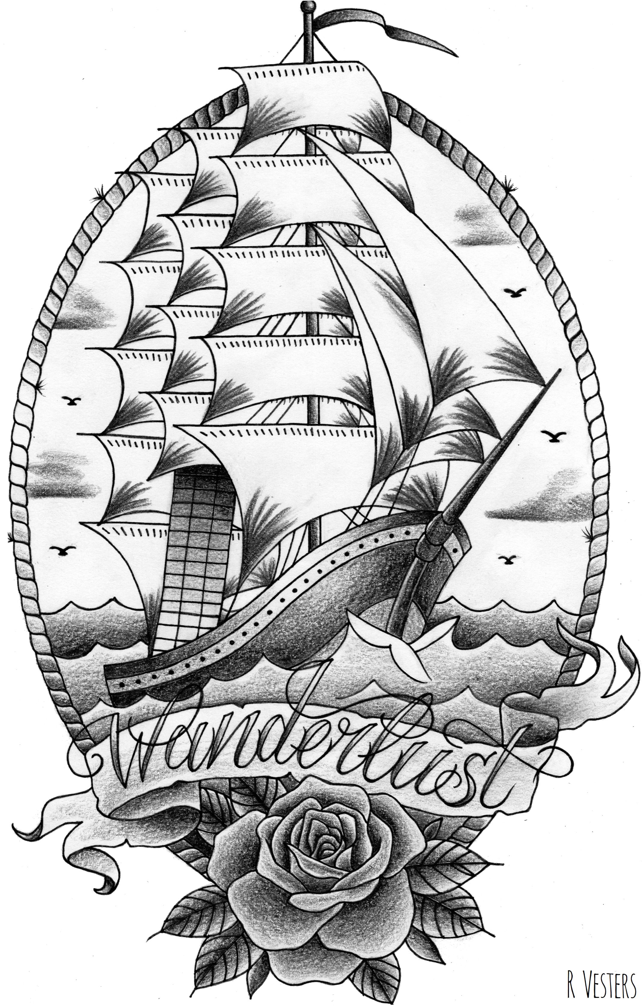Old school ship tattoo design | Old school tattoo designs ...Old School Battleship Tattoos