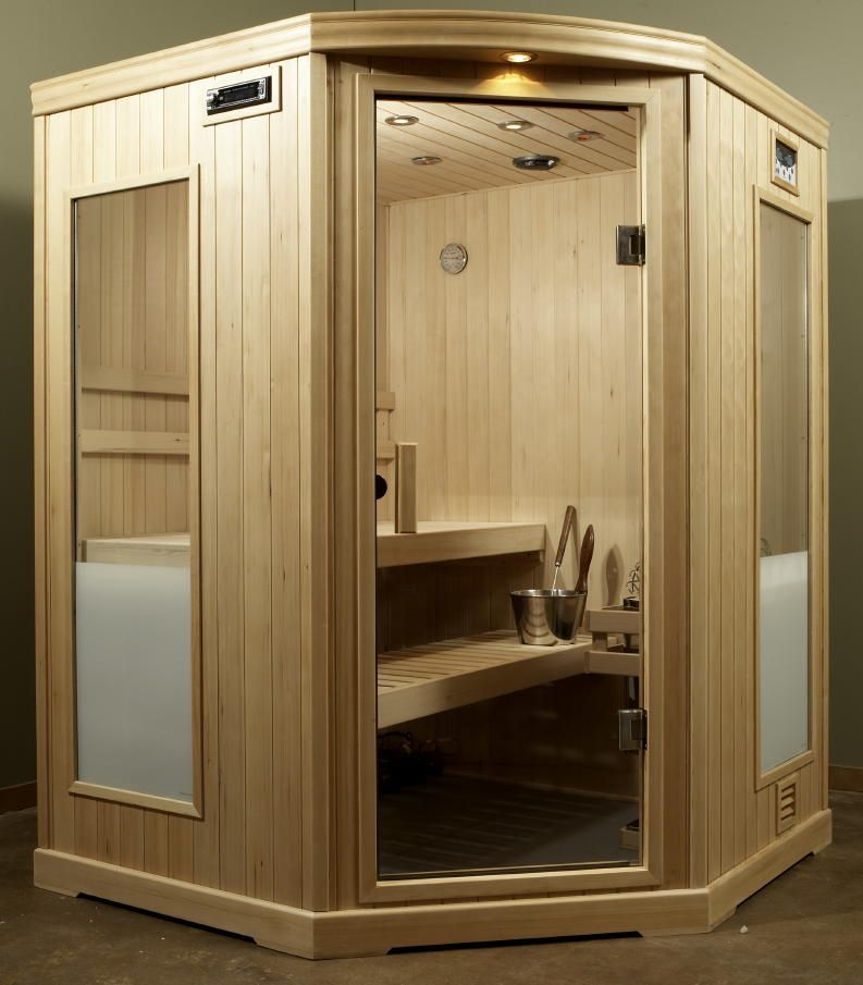 Steam Sauna corner unit.... (With images) | Portable house ...