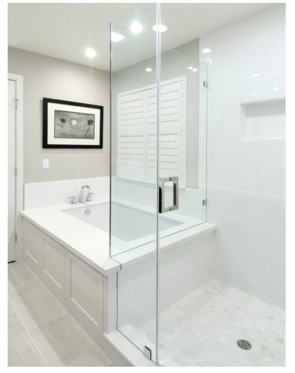 Love This Combo Bathroom Tub Shower Combo Master Bathroom Design Bathroom Remodel Master