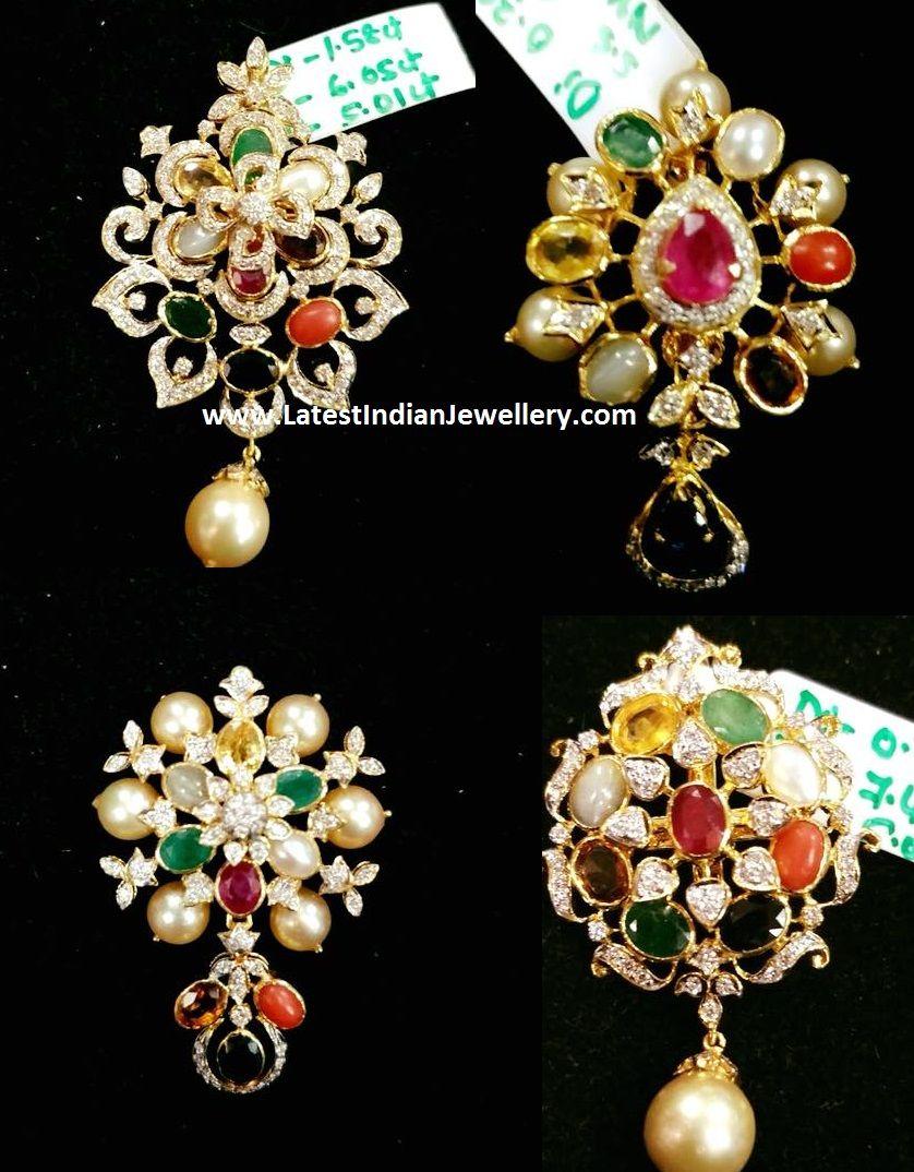 Diamond navaratna pendants homes pinterest pendants diamond