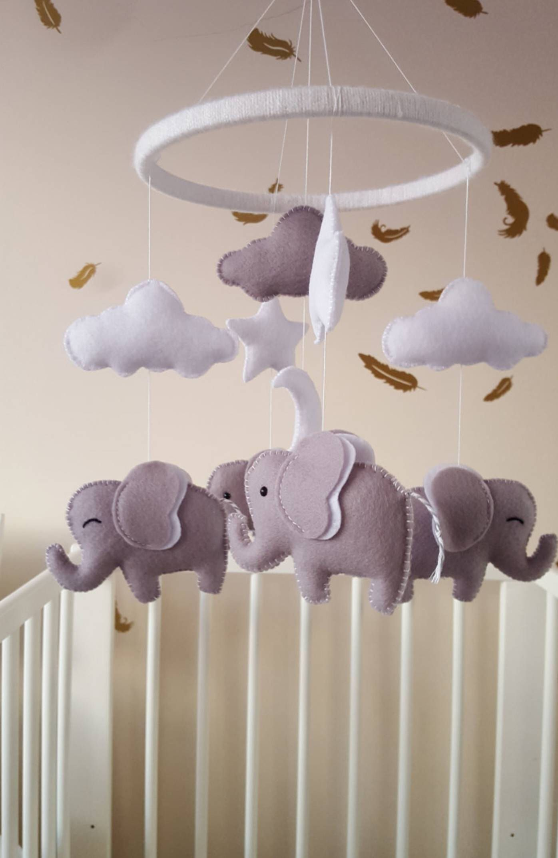 Elephant mobile elephant baby mobile baby girl mobile baby shower