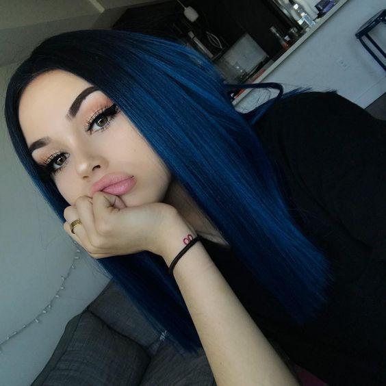 79 Dark Blue Hair Color For Ombre Teal Hair Beauty Hair Blue