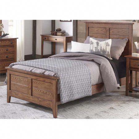 Liberty Furniture Grandpa\u0027s Cabin Full Panel Bed in Aged Oak
