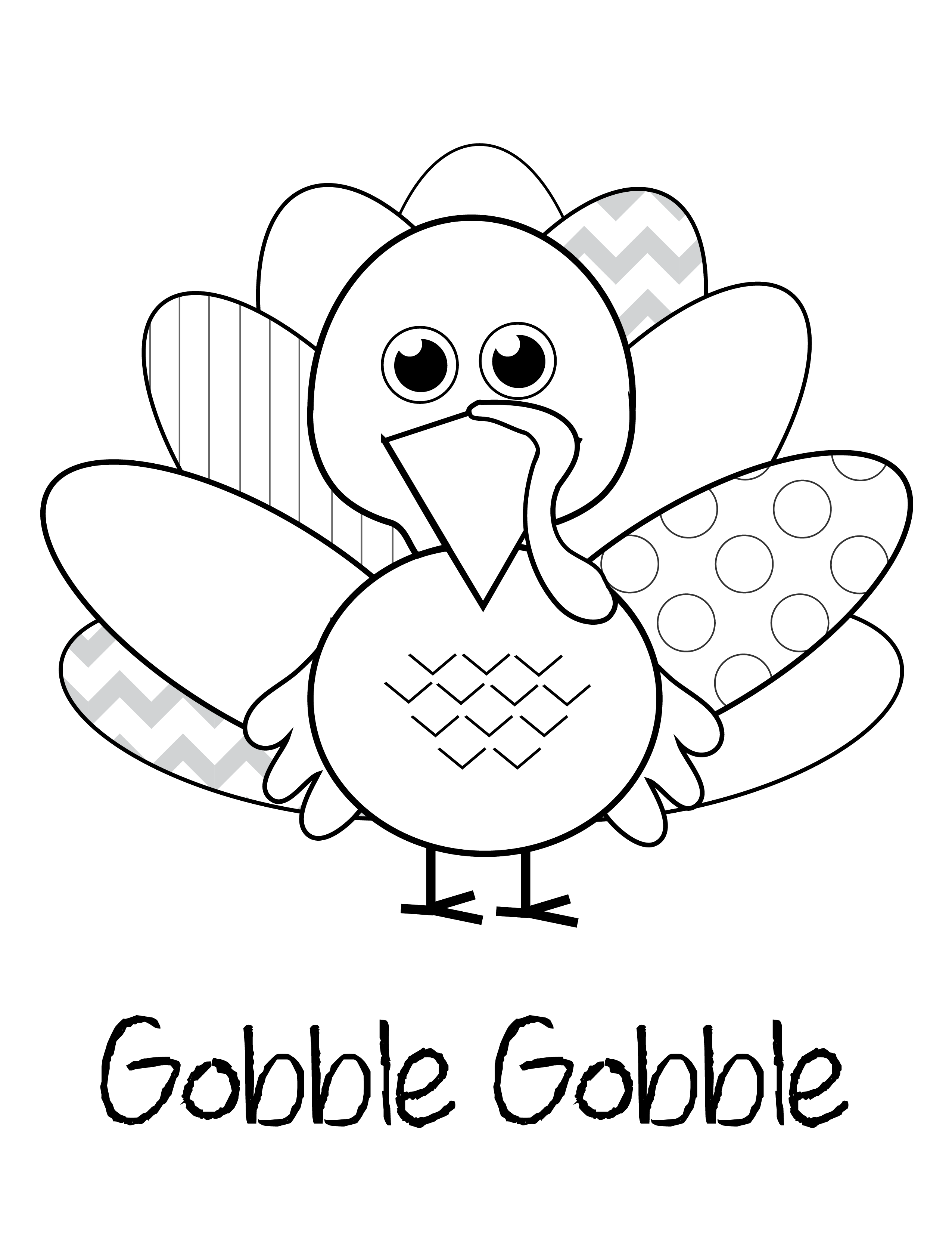turky coloring pages 4 kids - photo#11