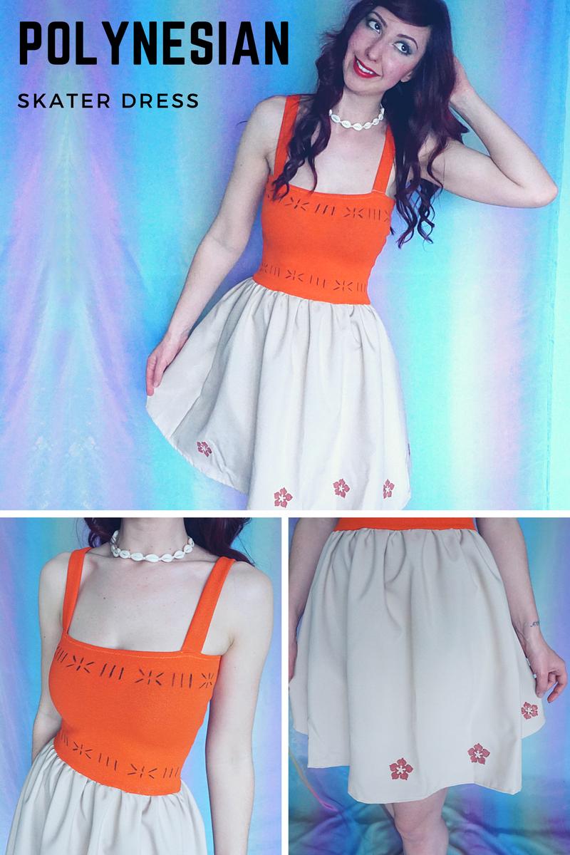 Polynesian Princess - Ocean Princess - Moana Dress - Adult Orange ...