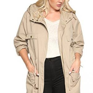 TheMogan Women's Cotton Anorak Lightweight Utility Parka Jacket ...