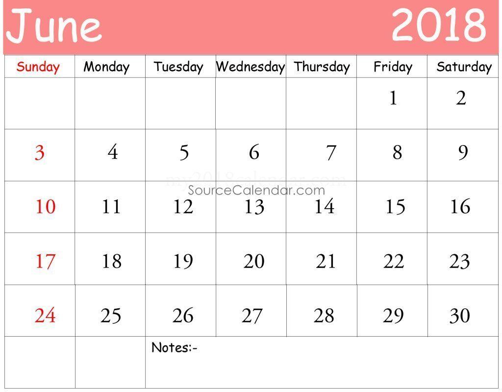 2018 calendar template pdf