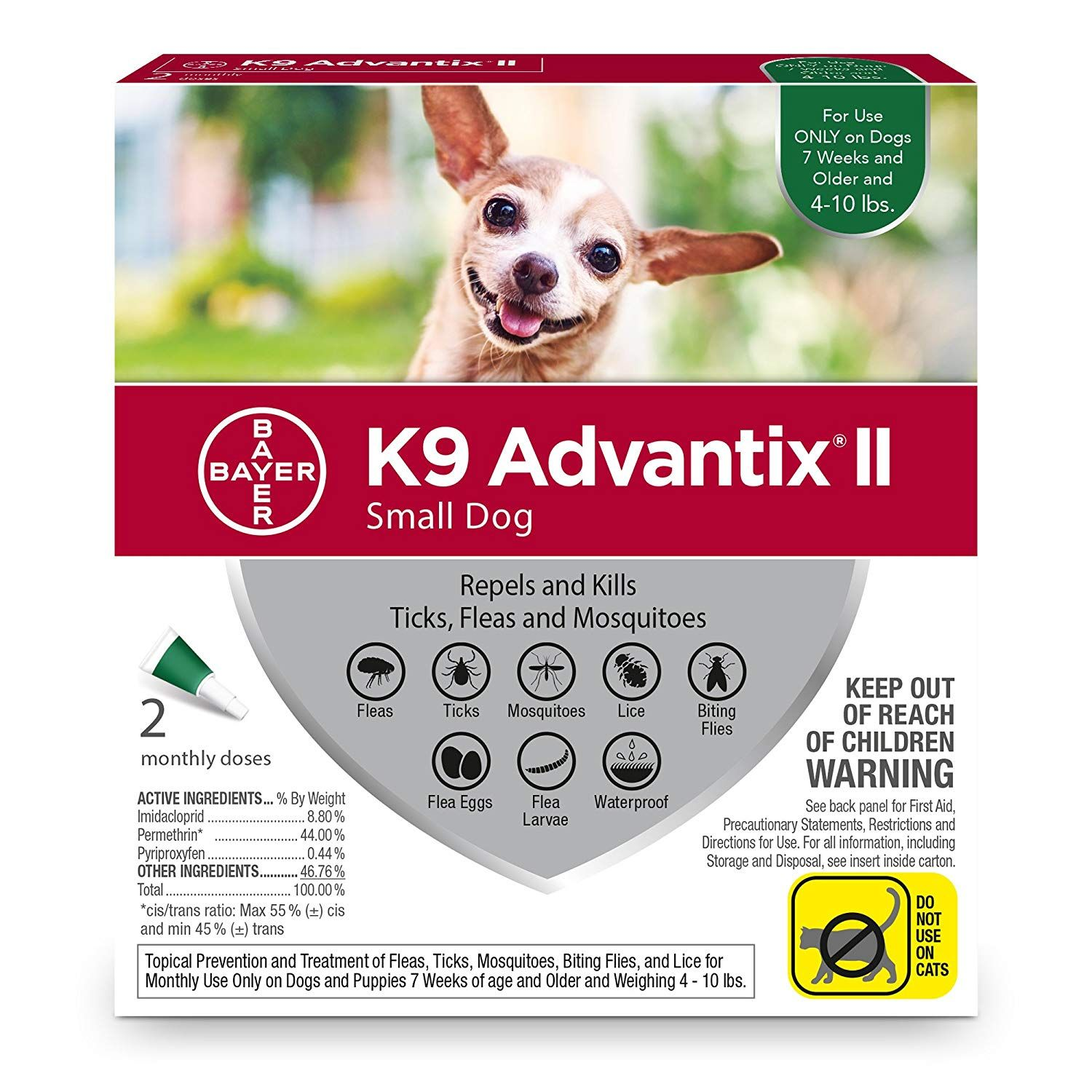 Bayer K9 Advantix Ii Flea Tick And Mosquito Prevention For Small Dogs 4 10 Lb 2 Doses Details Can Be Found By Clicki Fleas Tick Treatment Flea And Tick