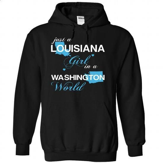 (LAJustXanh001) Just A Louisiana Girl In A Washington W - #tshirt skirt #hoodie drawing. CHECK PRICE => https://www.sunfrog.com/Valentines/-28LAJustXanh001-29-Just-A-Louisiana-Girl-In-A-Washington-World-Black-Hoodie.html?68278