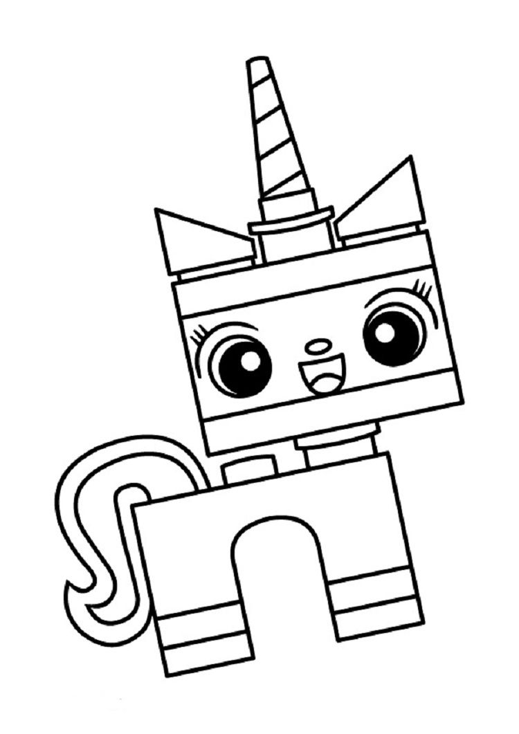 lego movie 2 unikitty coloring pages