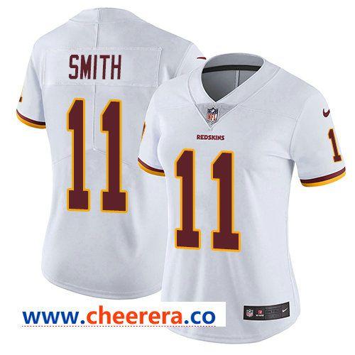 Womens Nike Washington Redskins  11 Alex Smith White Stitched NFL Vapor  Untouchable Limited Jersey 16347f3ca
