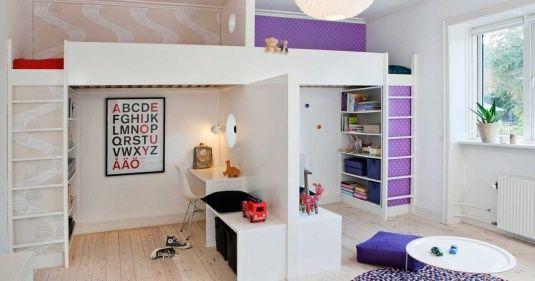 Room For Two Http Bit Ly Ibzspb Gedeelde Kinderkamers Slaapkamer Delen Slaapkamerdesigns