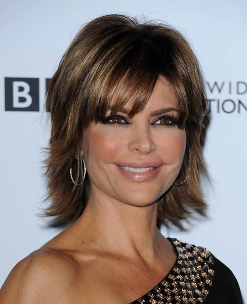 50 Ans Cheveux Fins Brunettes Lisa Rinna And Hair Style