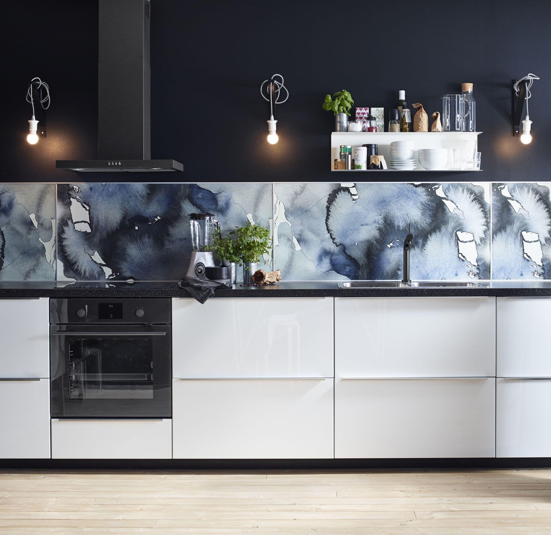 Beautiful LYSEKIL Es Un Panel De Pared Que Puede Encajar En La Cocina Moderna Y Azul  Que