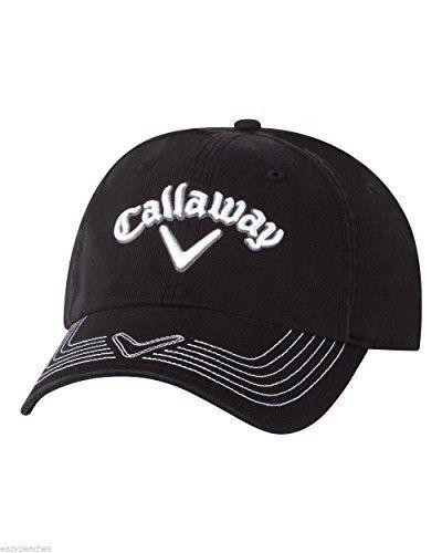 Callaway Golf Mens Adjustable Pro Stitch Cap Hat Black   Read more at the  image link e173f0637e5