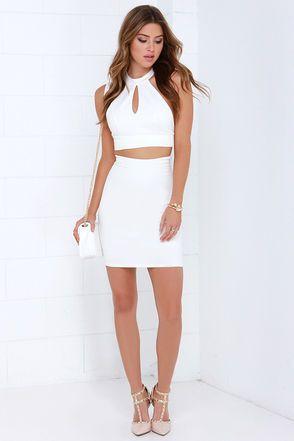 20e21f23d84 Sexy Ivory Two Piece Dress - Lace Dress - Bodycon Dress -  66.00