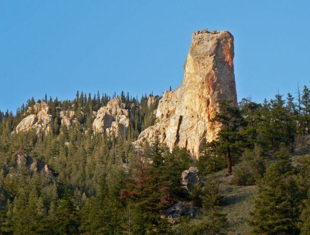 Chimney Rock Pavilion Lake Monument Valley Adventure
