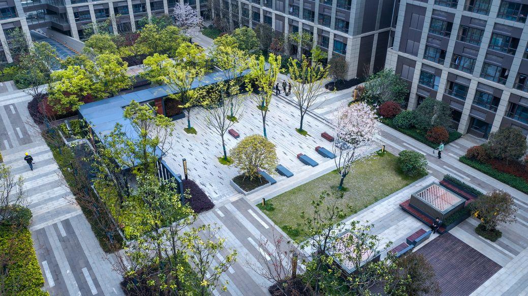 Nanjing Suning Zijin Jiayue Landscape Design Landscape Design Park Landscape Courtyard Landscaping