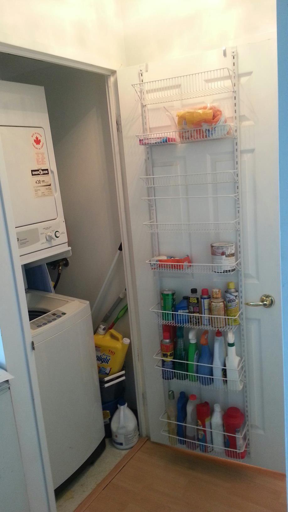 condo laundry closet storage ideas