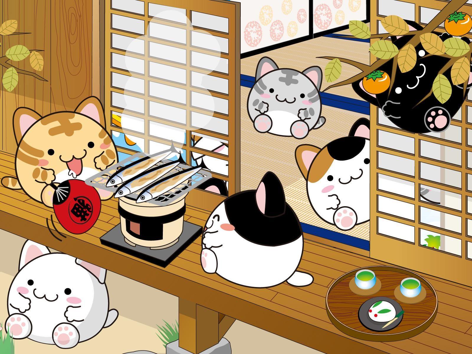 Cute Japanese Food Wallpaper Cartoon Wallpapers 9789 Ilikewalls Anime Wallpaper Japanese Cartoon Art Cartoon Wallpaper