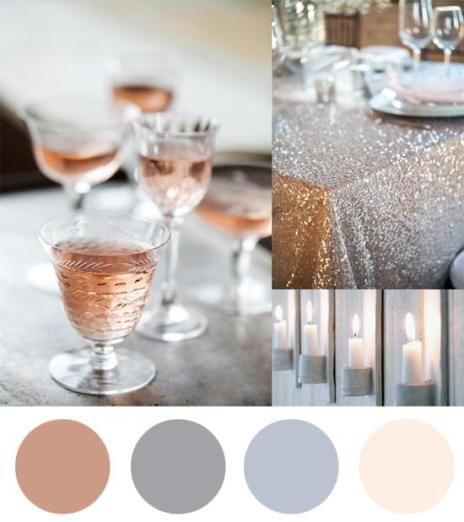 rose gold gold silver and blush christmas and new year colour theme
