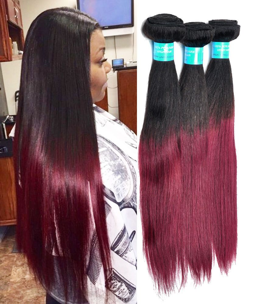 Details about Straight 100g/Bundle Human Hair Extensions
