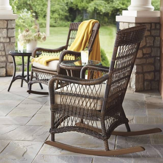 Providence Rocking Chair With Cushion Front Porches Porch And Rockers
