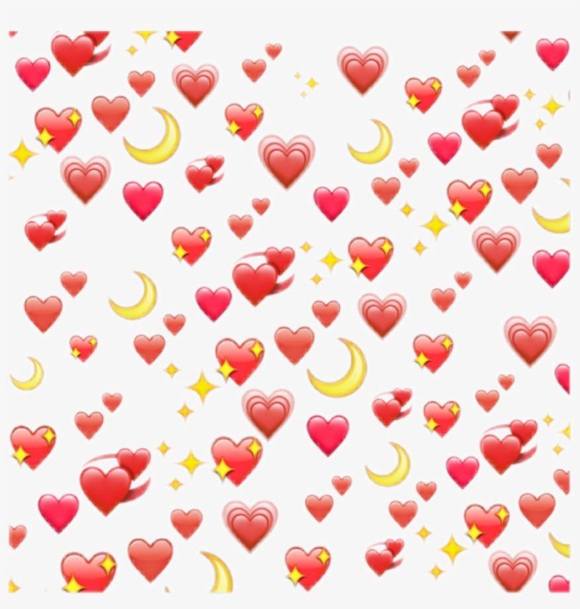 Wholesome Heart Emoji Meme Transparent Cute Emoji Wallpaper