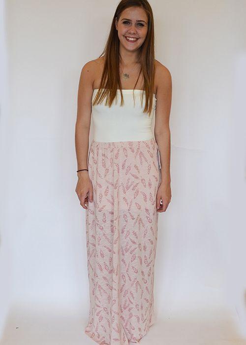 Feather Print Maxi Skirt $48