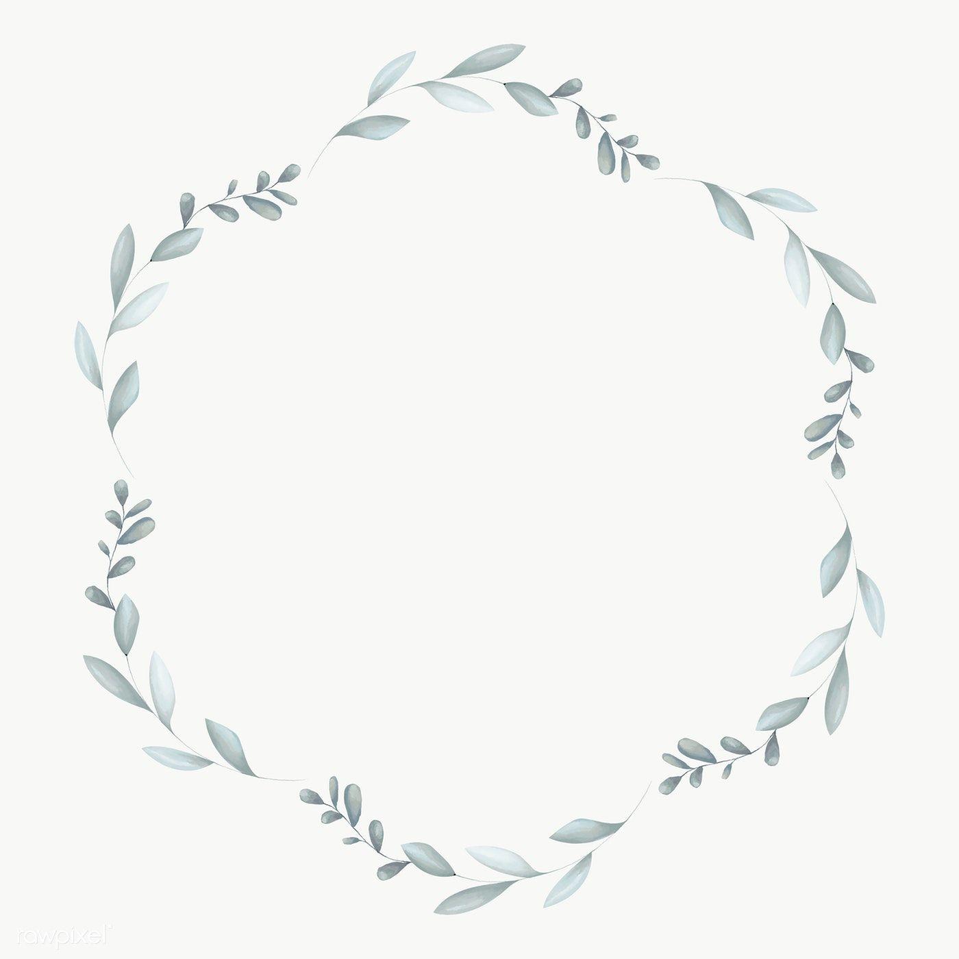 Hexagon Leafy Frame Social Ads Template Transparent Png Premium Image By Rawpixel Com Adj Flower Frame Png Floral Wreaths Illustration Frame Logo