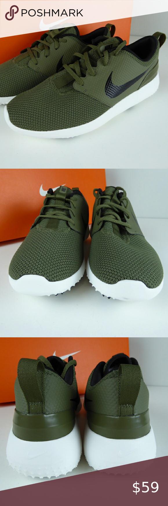 Nike Roshe G Golf Shoe Cleats NIB Olive